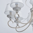 Deckenleuchte, White With Gold/Metal Transparent/Crystal White /Fabric 8*40W E14, 419011708