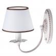 Wandleuchte, Matt Weiss+Kaffefarbe / Metall Lampenschirm 1*40W E14, 419020901