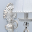 Wandleuchte, White With Gold/Metal Transparent/Crystal White /Fabric 1*40W E14, 419021801