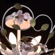 Deckenleuchte, Weiss + Gebuerstete Goldfarbe  / Metall Kristall 6*40W E14, 421013406