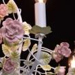 Kronleuchte, Elfenbeinfarbe/Metall Keramik 8*40W E14, 421013708