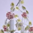 Kronleuchte, Elfenbeinfarbe / Metall Keramik 6*40W E14, 421013806