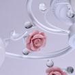 Deckenleuchte, Weisse Farbe / Metall Glas /Keramik 5*60W E27, 422010405