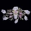 Deckenleuchte, Perlenweisse Farbe / Metall Kristall/Glas 7*40W E14, 422010607