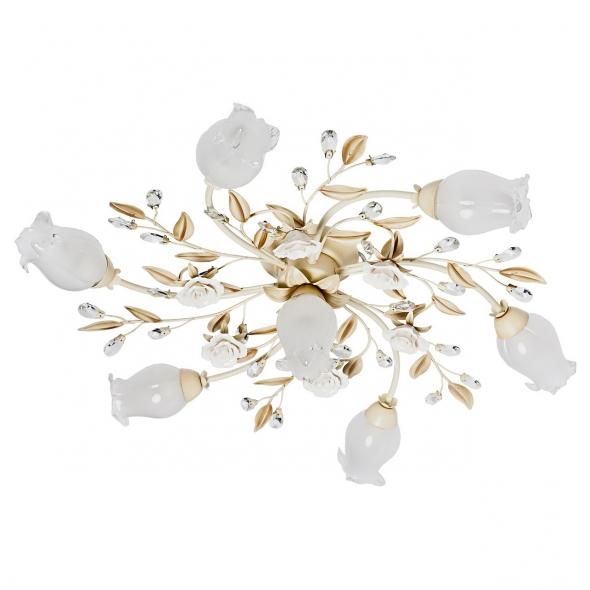 Deckenleuchte, Antike Elfenbein Und Weisse Farbe / Metall Glas /Keramik 7*40W E14, 422010907