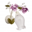 Wandleuchte, Perlenweisse Farbe / Metall Kristall/Glas 1*40W E14, 422020801