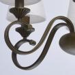 Hängeleuchte, Antike Messingfarbe / Metall 6*40W E14 Lampenschirm, 444010806