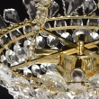 Hängeleuchte, Gold/Metall Glasklar/Glas Glasklar/Kristall 6*40 W E14 2700K, 447010406