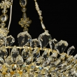 Hängeleuchte, Gold/Metall Glasklar/Glas Glasklar/Kristall 12*40 W E14 2700K, 447010612