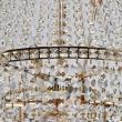 Deckenleuchte, Gold/Metal Transparent/Crystal 9*40W E14, 447011509