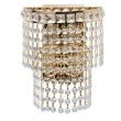 Wandleuchte, Gold/Metal Transparent/Crystal 2*40W E14 , 447021302