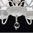 Hängeleuchte, Matt Weiss+Goldfarbe / Metall Kristall Lampenschirm 6*40W E14, 448012106