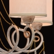 Hängeleuchte, White + Gold Color / Metal White Color  / Fabric Lampshade Transparent /Crystal 5*40W E14 2700–Ö, 448012405