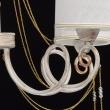 Hängeleuchte, White + Gold Color / Metal White Color  / Fabric Lampshade Transparent /Crystal 5*40W E14 2700–Ö, 448012405