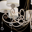 Hängeleuchte, White + Gold Color / Metal White Color  / Fabric Lampshade Transparent /Crystal 8*40W E14 2700–Ö, 448012508