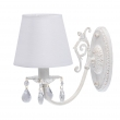 Wandleuchte, Matt White+Gold Color/Metal Crystal Lampshade 1*40W E14, 448022001