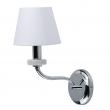 Wandleuchte, Chrome/Metal White/Ceramics White/Fabric 1*40W E14, 448024401