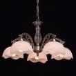 Kronleuchte, Messingfarbe / Metall Glas 5*60W E27, 450010605