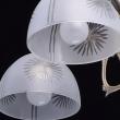 Deckenleuchte, Messingfarbe / Metall Glas 5*60W E27, 450010905