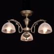 Deckenleuchte, Antike Messingfarbe / Metall Glas 3*60W E27, 450011503