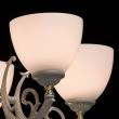 Kronleuchte, Elfenbein + Goldfarbe / Metall Glas 5*60W E27, 450013005