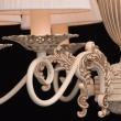 Kronleuchte, Beige+Goldfarbe / Metall Lampenschirm 6*40W E14, 450014106