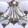 Hängeleuchte, Antique Brass Color / Metal Glass 6*60W E14, 450014406