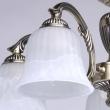 Deckenleuchte, Antike Messingfarbe / Metall Glas 5*60W E27, 450014605