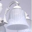 Deckenleuchte, Matt Weiss+Goldfarbe / Metall Glas 5*60W E27, 450014805