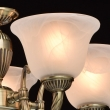 Hängeleuchte, Antique Brass Color / Metal Glass 5*60W E27, 450016305