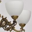 Hängeleuchte, Messingfarbe/Metall Glas 5*60W E27, 450016805