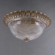 Deckenleuchte, Antique Brass/Metal Transparent/Glass 3*40W E27, 450019403