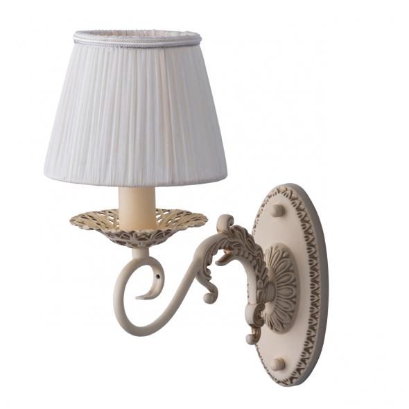 Wandleuchte, Beige+Goldfarbe / Metall Lampenschirm 1*40W E14, 450024001