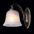 Wandleuchte, Antike Messingfarbe / Metall Glas 1*60W E14, 450024501