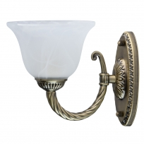 Wandleuchte, Antique Brass Color/Metal Glass 1*60W E27, 450026101