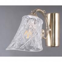 Wandleuchte, Antique Brass/Metal Transparent/Glass 1*40W E14, 450029001