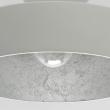 Hängeleuchte, Matt White+Silver Foil/Metal 1*40W E14 2700K, 452015201