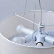 Hängeleuchte, Chrom +Weiss/Metalllampenschirm 6*40W E14, 453010906