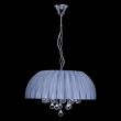 Hängeleuchte, Chromfarben / Metall Glas/Lampenschirm 5*60W E14, 454010605