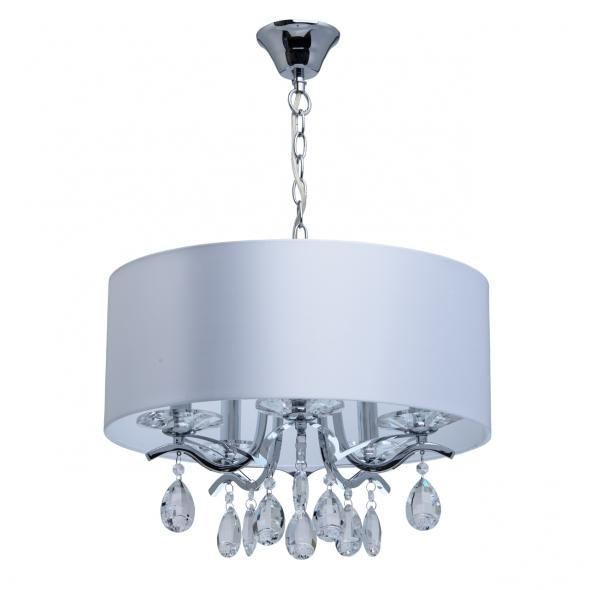 Hängeleuchte, Chrome Color / Metal Lampshade 5*40W E14, 454010805