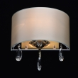 Wandleuchte, Antique Brass/Metal Cream/Fabric Transparent/Crystal 1*60W E14, 454021501