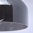 Hängeleuchte, Chromfarben / Metall Glas 1*60W E27, 463010901
