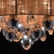 Deckenleuchte, Chromfarben / Metall Kristall/Glas Lampenschirm 5*40W E14, 465011305