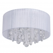 Deckenleuchte, White/Metal White/Fabric Transparent/Crystal 6*60W E14, 465015606