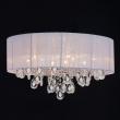 Deckenleuchte, White/Metal White/Fabric Transparent/Crystal 9*60W E14, 465015709