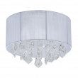 Deckenleuchte, Chrome/Metal White/Fabric Transparent/Crystal 4*40W E14, 465015904