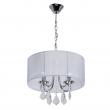 Deckenleuchte, Chrome/Metal White/Fabric Transparent/Crystal 4*40W E14, 465016104