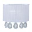 Wandleuchte, White/Metal White/Fabric Transparent/Crystal 1*40W E14, 465025801