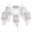 Deckenleuchte, Weisse Farbe / Metall Kristall 5*60W E14, 472010405