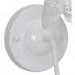 Wandleuchte, Weiss/Metall/Lampenschirm 1*60W E14, 472020201